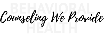 Counseling We Provide Title Image
